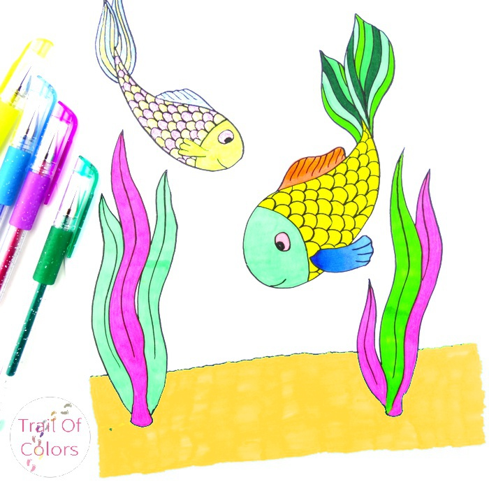 Fish Coloring Page (free)