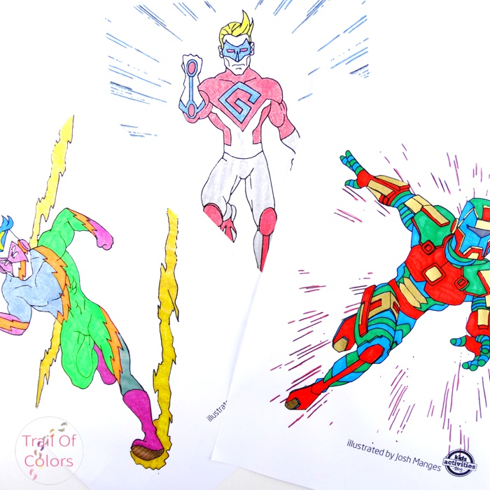 superhero coloring pages for kids - trail of colors - Superhero Coloring Pages Kids