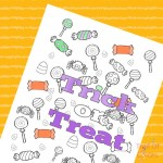 Halloween Trick or Treat Coloring Page