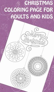 Christmas Ornaments Coloring Page for Adults and Kids