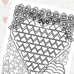Hearts Coloring Page for Valentine's Day