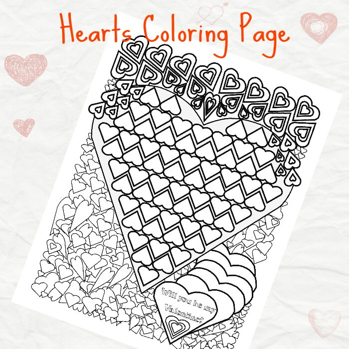 Hearts Coloring Sheet