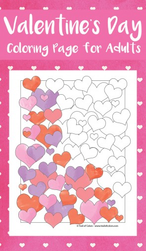 Valentines Hearts Coloring Page for Adults - Valentines Day Coloring Pages
