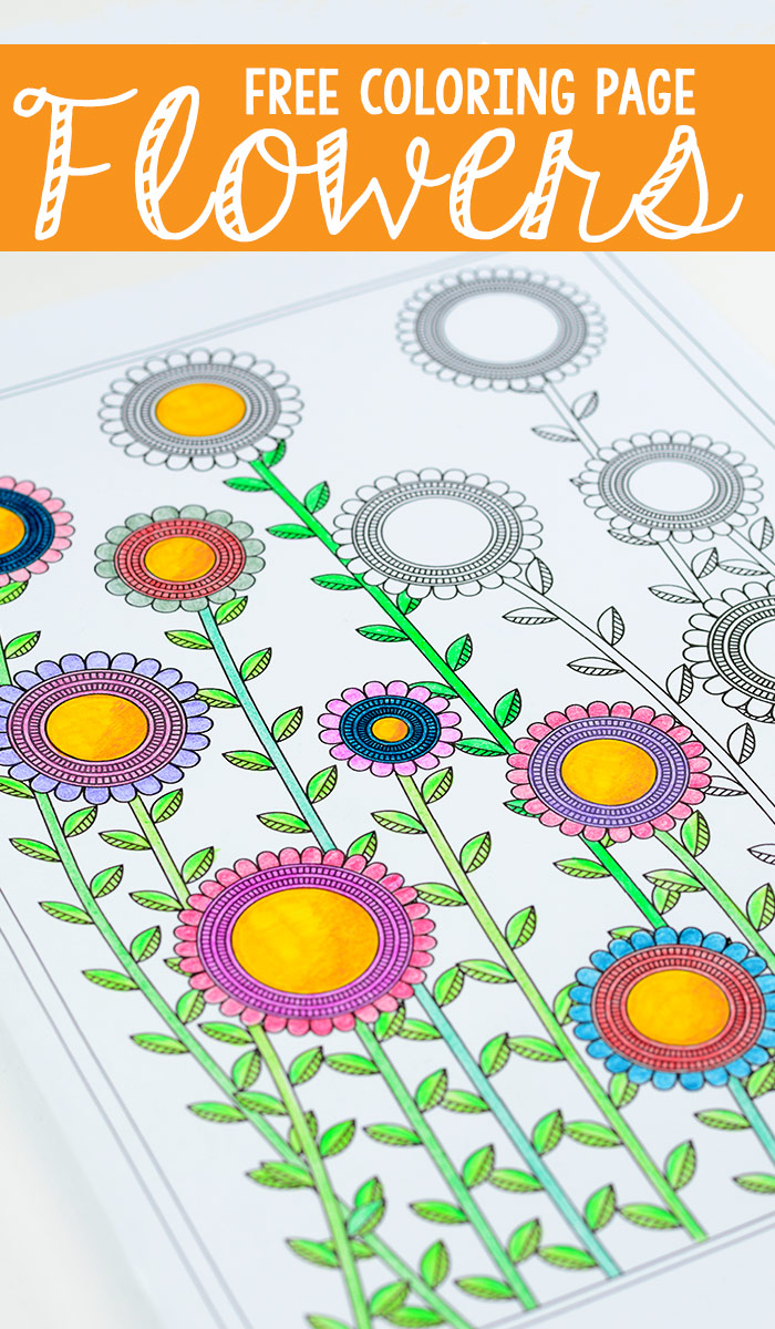 Free Printable Flowers Coloring Page for Adults