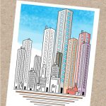 Skyscraper City Coloring Page For Adults