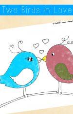Two Little Birds in Love