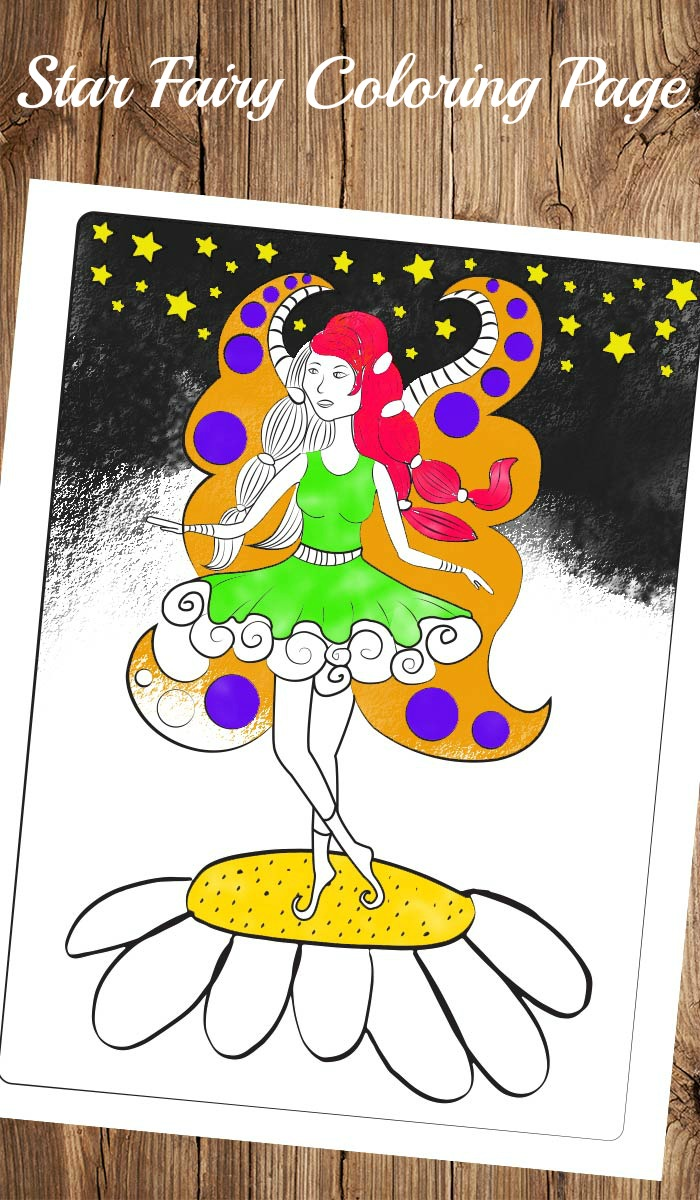 Fairy Coloring Page for adults and for kids