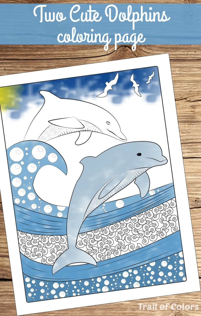 Ocean Themed Coloring Page for Adults