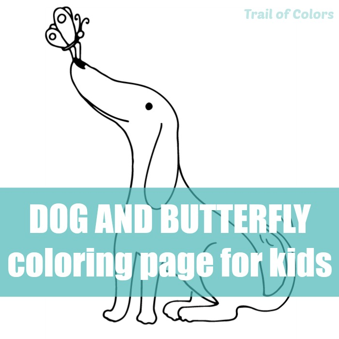 happy dog coloring page