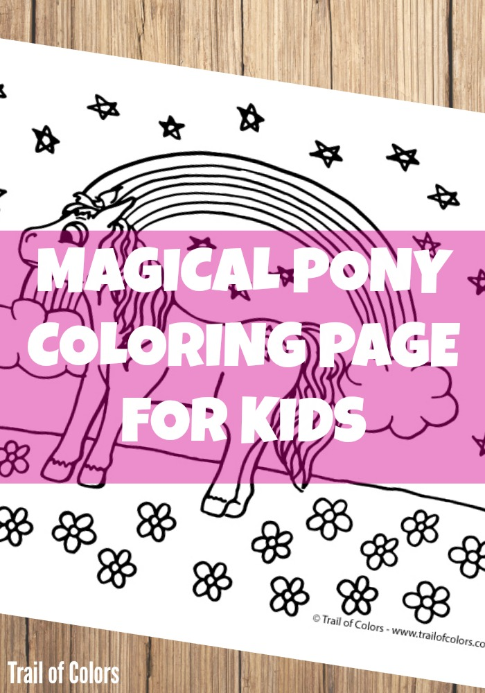 Cute Pony Coloring Page for Kids