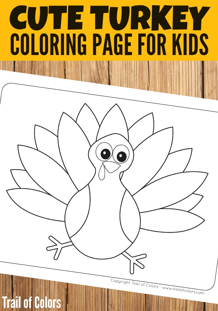 free turkey coloring page for kids - Thanksgiving Turkey Coloring Pages