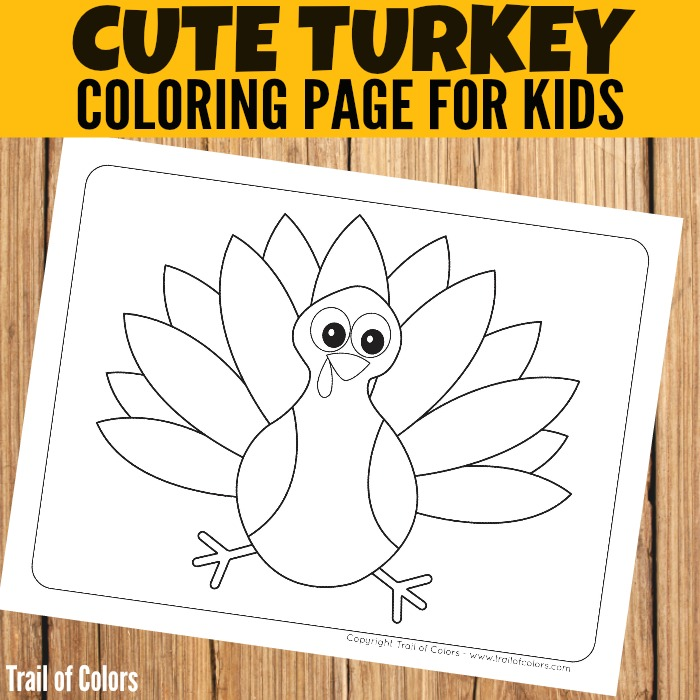 free turkey coloring page for little ones - Thanksgiving Turkey Coloring Pages