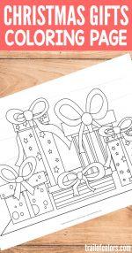 Free Printable Christmas Gifts Coloring Page