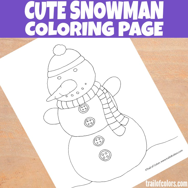 Cute Snowman Coloring Page