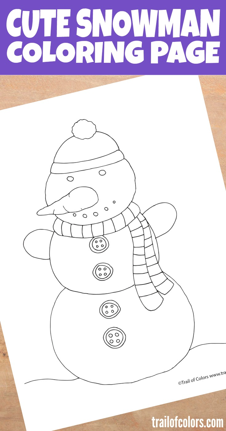 free printable snowman coloring page for kids - Snowman Coloring Page