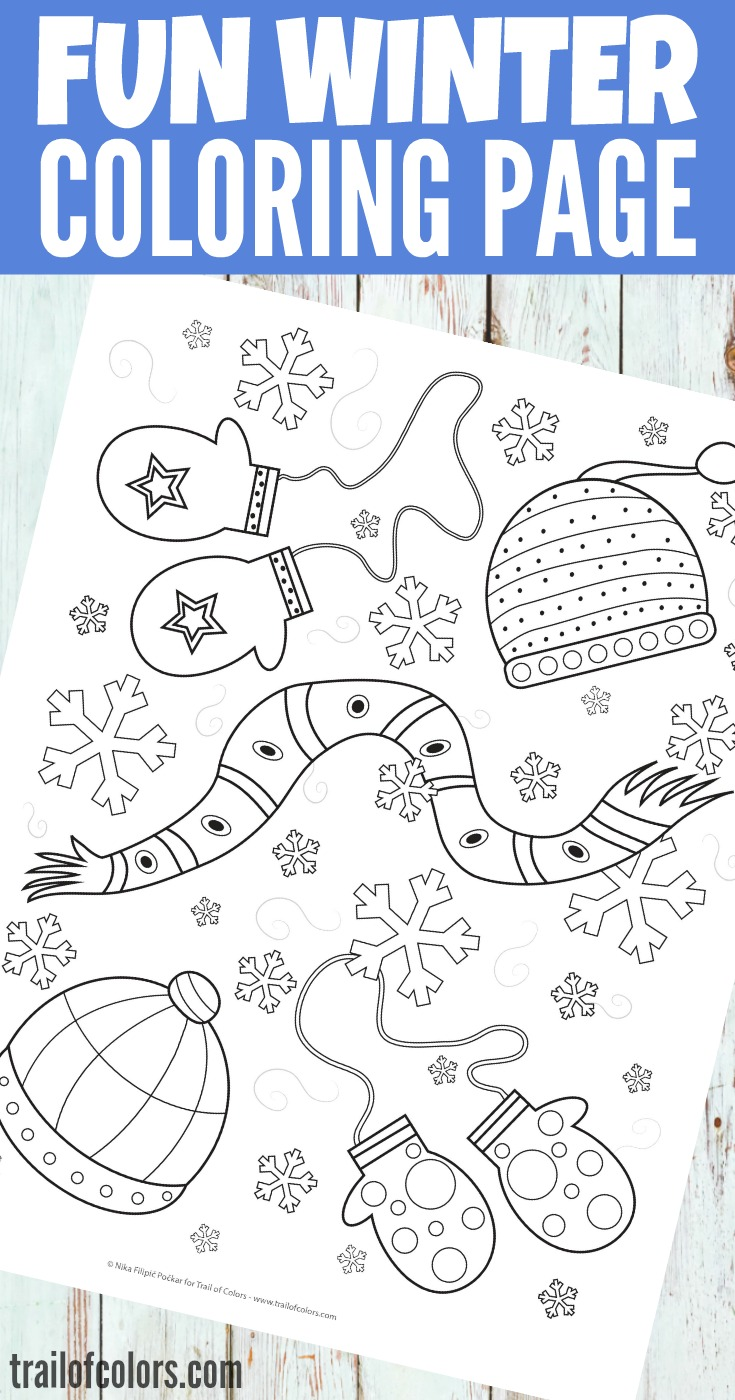 grab this free printable fun winter coloring page for kids - Winter Coloring Pages Free