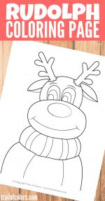 Rudolph the Reindeer Coloring Page