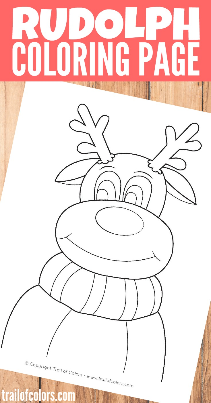 grab this lovely rudolph the reindeer coloring page for kids