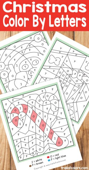 Christmas Color by Letters Fun Free Christmas Printables for Kids