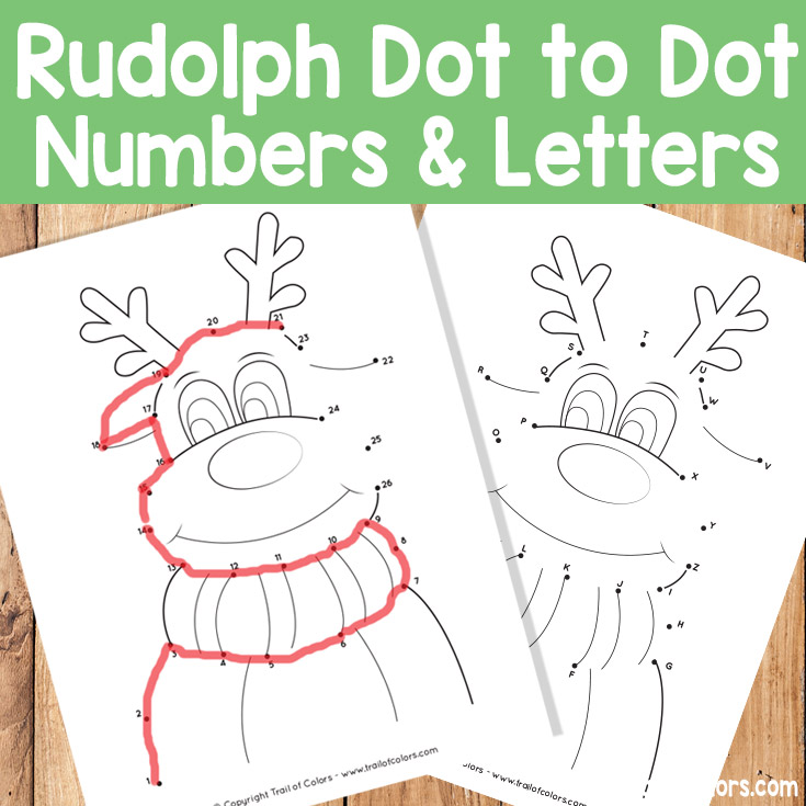 Christmas Dot to Dot Numbers and Letters