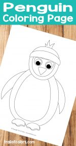 Penguin Coloring Page – Winter Coloring Pages for Kids