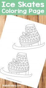 Ice Skates Coloring Page
