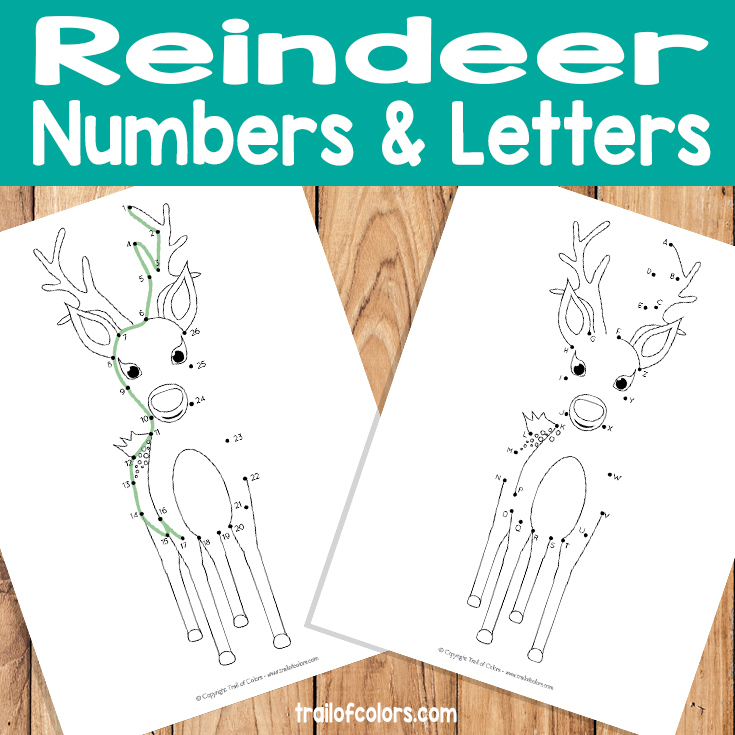 Reindeer Dot to Dot