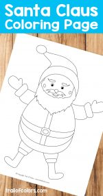 Adorable Santa Coloring Page – free printable for kids