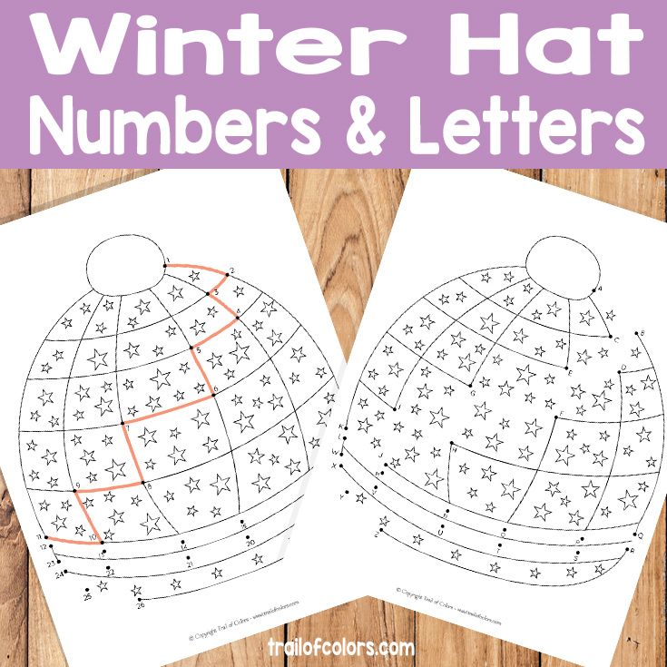 Winter Hat Dot to Dots