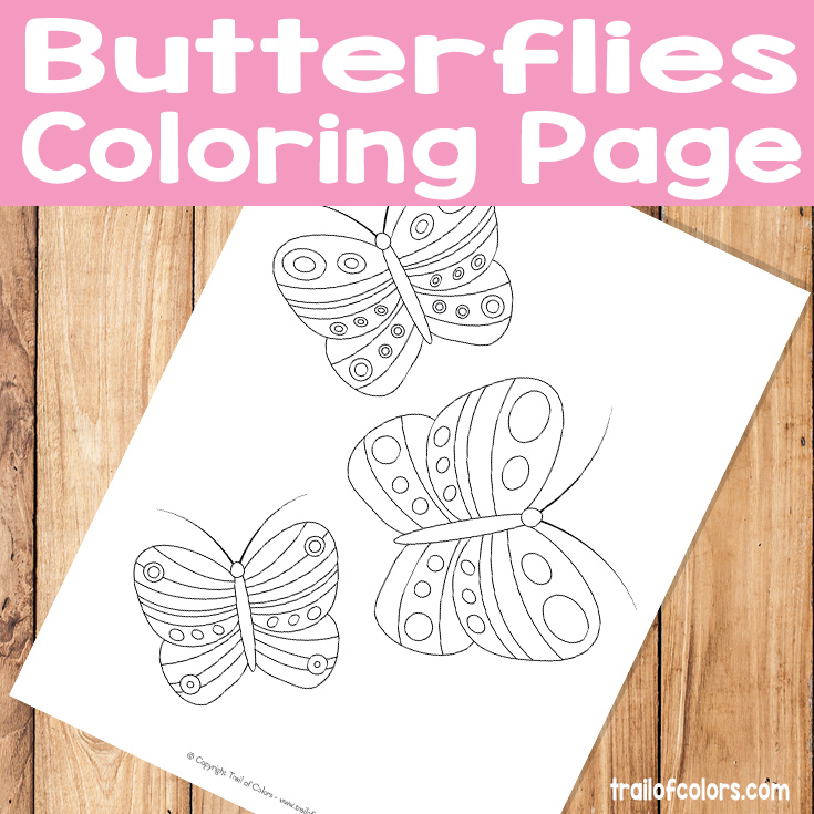 Butterflies Free Printable for Kids