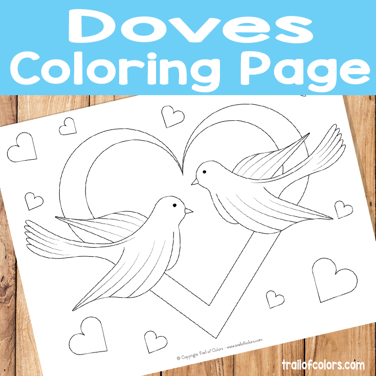 Adorable Doves Coloring Page