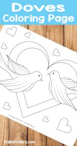 Adorable Doves Coloring Page for Kids
