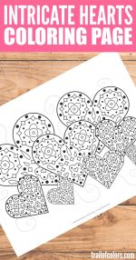 Intricate Hearts Coloring Page