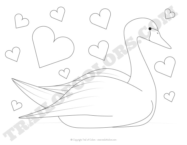 free swan coloring pages - photo#22