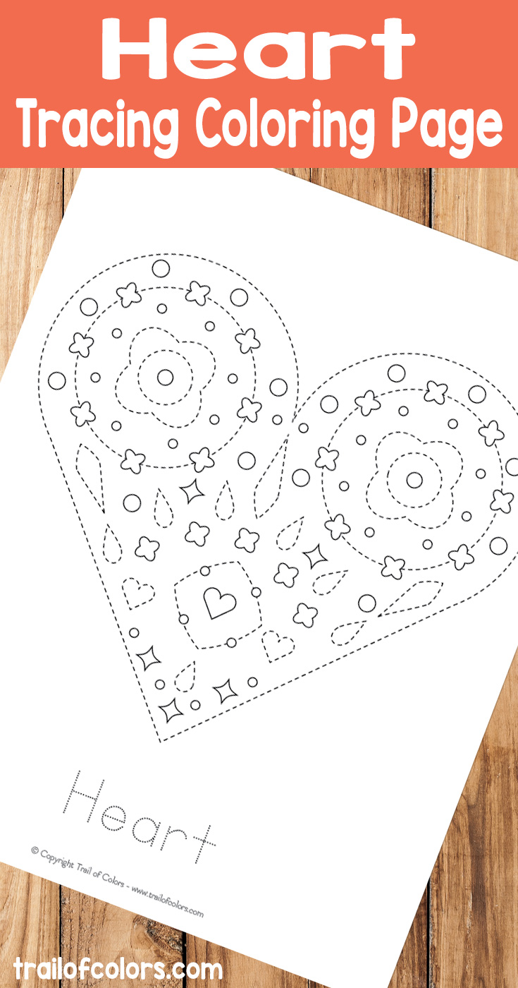 lovely hearts coloring page free printable trail of colors