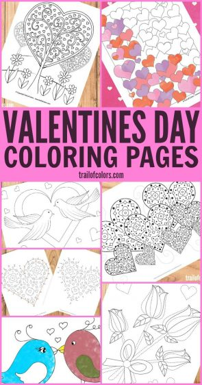 Free Printable Valentines Day Coloring Pages for Adults and Kids