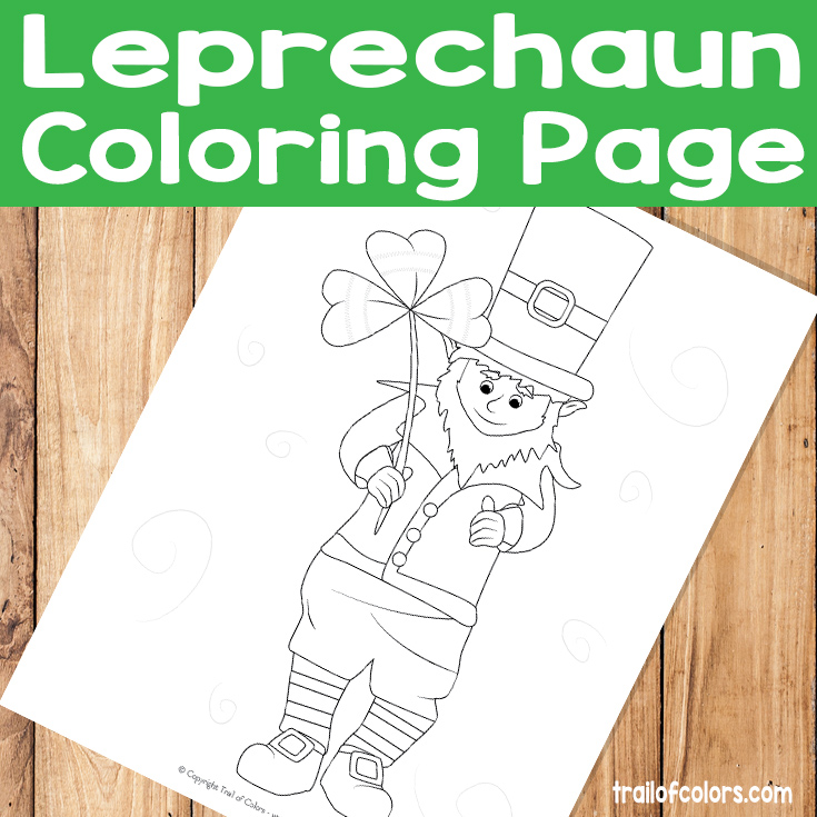 Adorable Leprechaun Coloring Page St Patricks Day Free