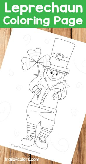 Adorable Leprechaun Coloring Page for Kids