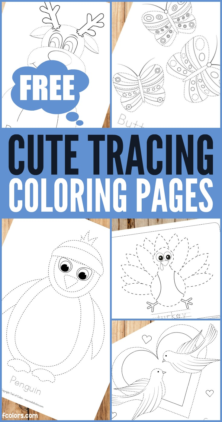 Printable Tracing Coloring Pages for Kids