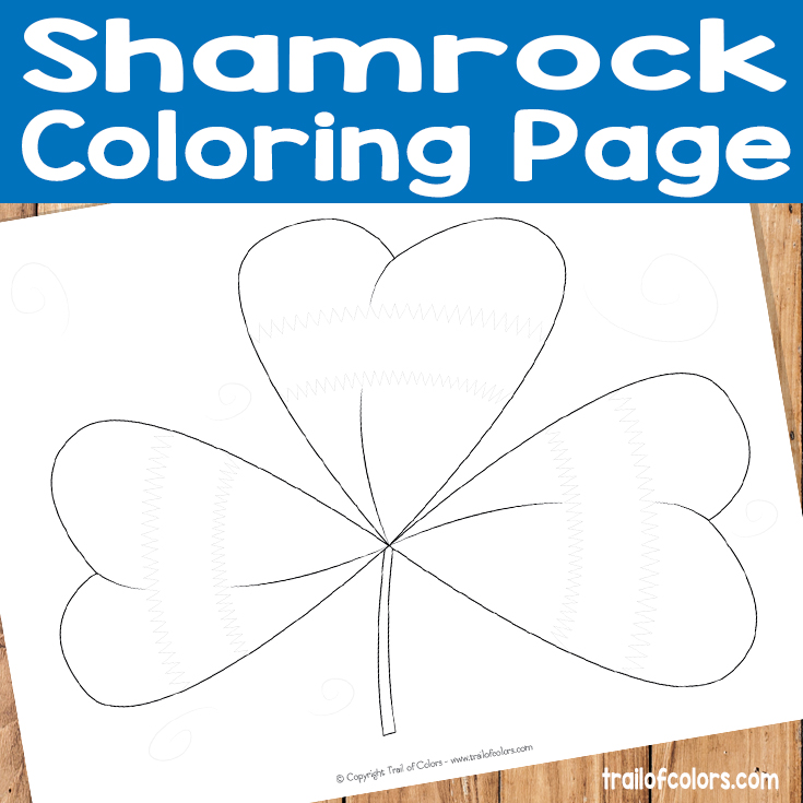 free shamrock coloring page for kids
