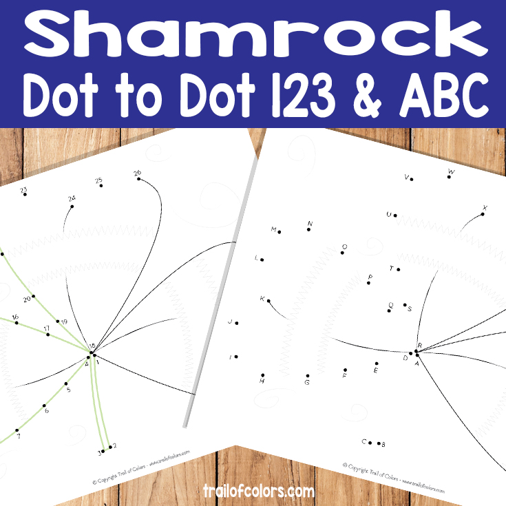 Shamrock Dot to Dot Free Coloring Page