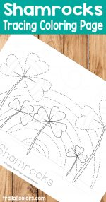 Shamrocks Tracing Coloring Page