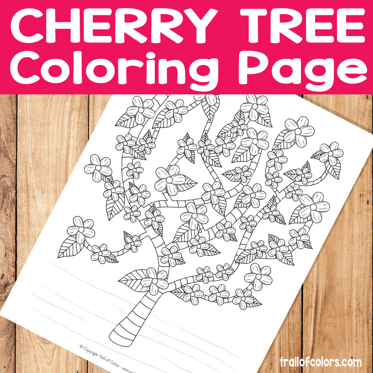 Cherry Tree Coloring Page
