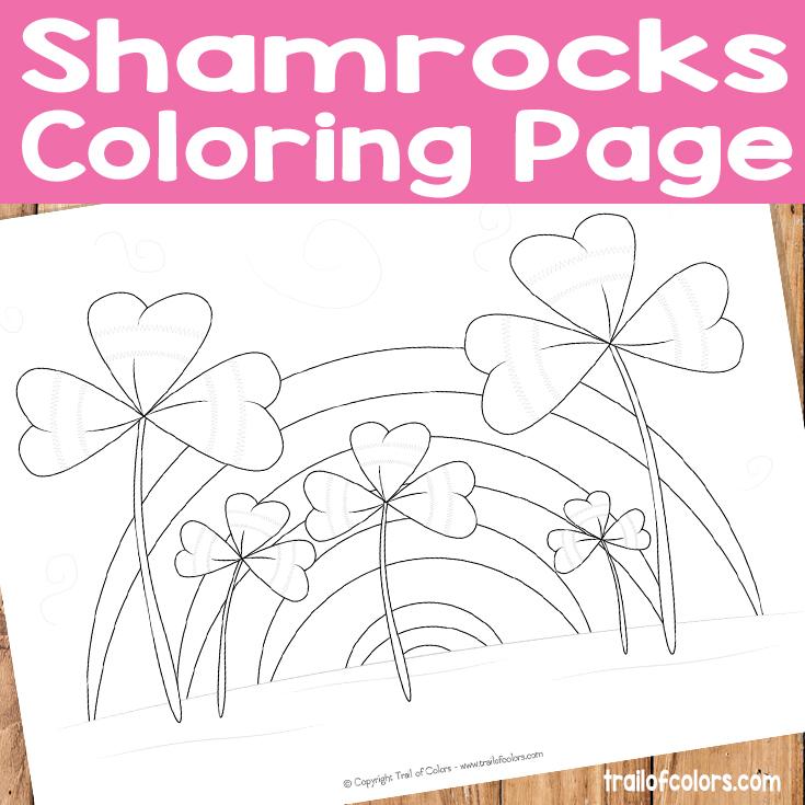 Free Printable Shamrocks Coloring Page for Kids