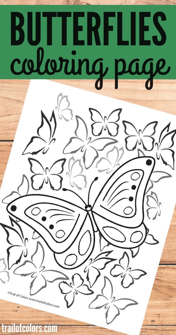 Bee and butterfly coloring pages - Free Printable Butterfly Coloring Page Butterfly Coloring Page For Grown Ups