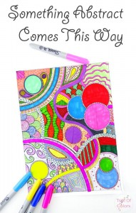 Abstract Coloring Page For Grown Ups