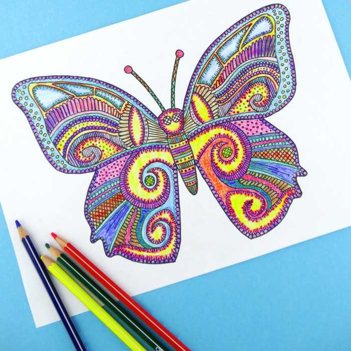 Butterfly Coloring Page For Grown Ups