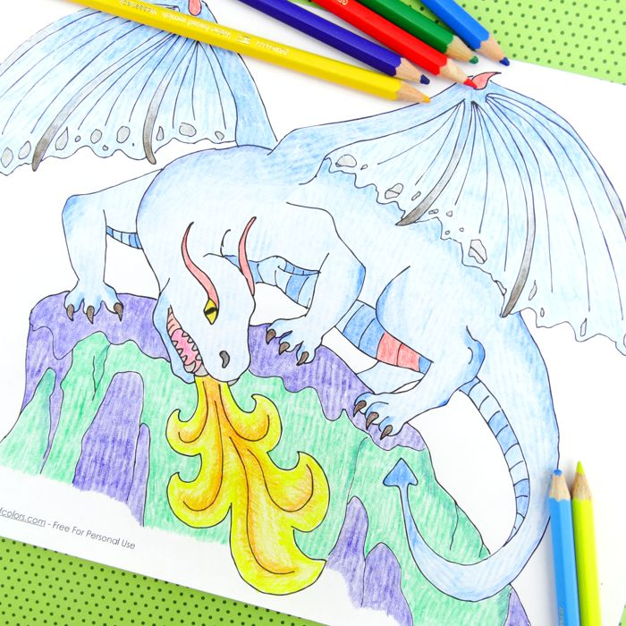 Dragon Coloring Page Free Printable Trail Of Colors