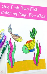 Fish Coloring Page For Kids