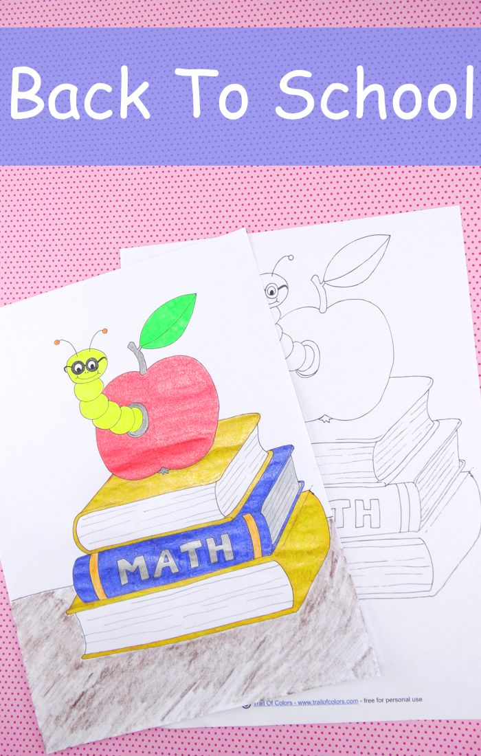 Back To School Coloring Page For Kids